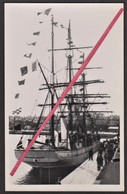"""Carte Photo """"POURQUOI PAS"""" Du Commandant """"CHARCOT"""" à Saint-Malo _Expédition Polaire Antartique _ Bateau, Canot, Marin - Missions"""