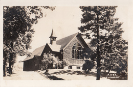 Real Photo - North Hatley Québec P.Q. - Church Église - VG Condition - 2 Scans - Quebec