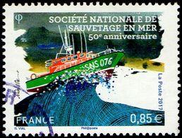 Oblitération Cachet à Date Sur Timbre De France N° 5151 Anniversaire De La Société Nationale De Sauvetage En Mer - France