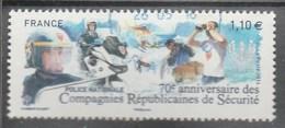 70 E ANNIVERSAIRE DES COMPAGNIES REPUBLICAINES DE SECURITE FRANCE 2014 OBLITERE A DATE YT 4922 - France