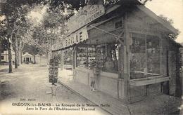 GREOUX-les-BAINS ( Bsses Alpes ) Le Kiosque De La Maison Baille Dans Le Parc ( Cartes Postales, Souvenirs ) - Marchands