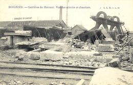 SOIGNIES - Carrières Du Hainaut.vue Des Scieries Et Chantiers - Ed. L.L.B. N°35 - Soignies