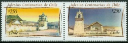 CHILE 2007 CHURCHES PAIR** (MNH) - Chili