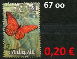 Malaysia - Michel 67 - Oo Oblit. Used Gebruikt - Schmetterlinge Butterflies Papillons - Malaysia (1964-...)