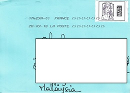 24B: France Monde Woman Stamps Used On Cover - France