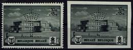 Belgien Belgie 1942 - Musikstiftung Der Königin Elisabeth - Waterloo - MiNr 594A-595A** - Perfo - Musik