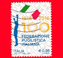 ITALIA - Usato - 2016 - Sport - Federazione Pugilistica Italiana - Pugile - Boxe - 0,95 - 6. 1946-.. Repubblica