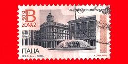 ITALIA - Usato - 2016 - Piazza De Ferrari In Genova- Tariffa B Zona 2 - 50 G - Val. Iniziale  3.70 - 6. 1946-.. Repubblica
