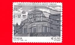 ITALIA - Usato - 2018 - 1000 Anni Dell' Abbazia Di San Miniato Al Monte In Firenze - Facciata - 0,95 - 6. 1946-.. Repubblica