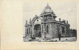 Santander, Nueva Estatcion De Los Ferrocarriles De La Costa (Nouvelle Gare De Chemin De Fer) - Carte Non Circulée - Cantabrië (Santander)