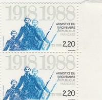 FRANCE 1988 N°2549*° ARMISTICE LA PAIRE BDF - France