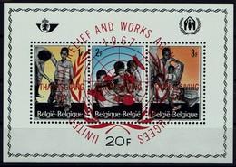 Belgien Belgie 1967 - Flüchtlingshilfe - MiNr Block 37 (1465-1467) Mit Aufdruck: THANKSGIVING DAY + United Nations - - Flüchtlinge