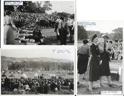 Scoutisme, Women (femmes) 1957 - Big Campfire (Miss Anstice Gibbs, Chef & Miss Patteson) - Lot 3 Cartes-photos - Scoutismo