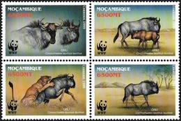 Mozambique 1999, WWF Blue Wildebeest - Block Of 4 V. MNH - W.W.F.
