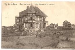 COXYDE-BAINS - Dans Les Dunes  Villas Simone Et La Tourelle.1912. - Koksijde