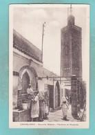 Small Post Card Of Fontaine Et Mosquee,Casablanca, Morocco,Q109. - Casablanca