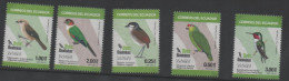 ECUADOR ,2015, MNH,BIRDS, PARROTS, HUMMING BIRDS, 5v - Birds