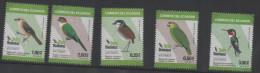 ECUADOR ,2015, MNH,BIRDS, PARROTS, HUMMING BIRDS, 5v - Oiseaux