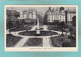 Small Post Card Of Plaza Mayo,Buenos Aires, City Of Buenos Aires, Argentina,Q109. - Argentina