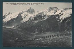 Environs De La Grave, La Châine De La Meije Et Le Râteau,vus Du Plateau De Paris - France
