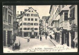 AK St.-Gallen, Speisergasse Mit Passanten - SG St. Gall