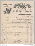 13 CHATEAURENARD FACTURE 1915  FRUITS LEGUMES PRIMEURS BRUN Fils Produits D' Algérie - T17 - France