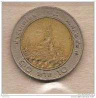 Thailandia - Moneta Circolata Da 10 Baht - 1988/2008 - Thaïlande