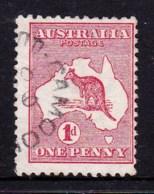 Australia 1913 Kangaroo 1d Red 1st Watermark Used  SG 2 - 1913-48 Kangaroos
