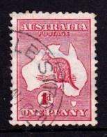 Australia 1913 Kangaroo 1d Red 1st Watermark Used  SG 2 - - 1913-48 Kangaroos