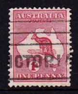 Australia 1913 Kangaroo 1d Red 1st Watermark INVERTED Die IIA Used  SG 2ew - 1913-48 Kangaroos