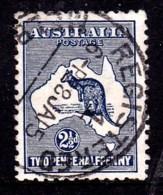 Australia 1913 Kangaroo 21/2 D Indigo 1st Watermark Used  SG 4 - 1913-48 Kangaroos