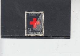 AUSTRIA  1965 - Unificato  1030° - Croce Rossa - 1945-.... 2a Repubblica