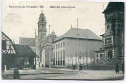 CPA - Carte Postale - Belgique - Exposition De Bruxelles 1910 - Allée Des Concessions ( M7348) - Wereldtentoonstellingen