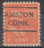 USA Precancel Vorausentwertung Preo, Locals Connecticut, Amston 716 - Vereinigte Staaten