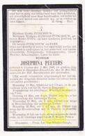 DP Josephina Peeters ° Leuven 1845 † Blauwput Kessel-Lo 1912 X Karel Pitschouw / Fam. Eyen - Images Religieuses