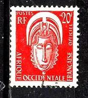 AFRIQUE OCCIDENTALE FRANÇAISE S5° 20f Orange Masque (10% De La Cote + 0,15) - A.O.F. (1934-1959)