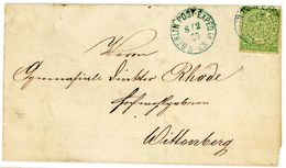 """Nr. 3 EF Bücherbestellzettel """"Berlin - Wittenberg"""" - Norddeutscher Postbezirk"""