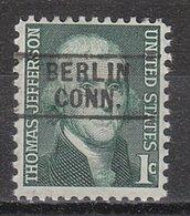 USA Precancel Vorausentwertung Preo, Locals Connecticut, Berlin 745 - Vereinigte Staaten