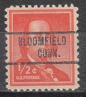 USA Precancel Vorausentwertung Preo, Locals Connecticut, Bloomfield 734 - Vereinigte Staaten