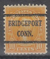 USA Precancel Vorausentwertung Preo, Bureau Connecticut, Bridgeport 642-43 - Vereinigte Staaten