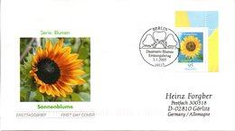 """BRD Schmuck-FDC  Freimarke Blumen """"Sonnenblume"""", Mi. 2434 ESSt 3.1.2005 BERLIN - BRD"""