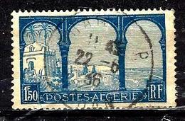 ALGÉRIE 83° 1,50f Bleu Foncé Et Bleu Vue Prise De Mustapha Supérieur (10% De La Cote + 0,15) - Algérie (1924-1962)