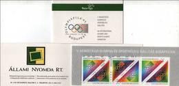 Hungary 1995. Olimphilex Set In Complete Stamp - Booklet ! MNH (**) Michel: 4347-4348 Markenheftchen - Hungría