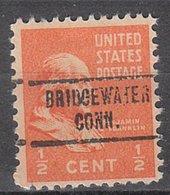 USA Precancel Vorausentwertung Preo, Locals Connecticut, Bridgewater 734 - Vereinigte Staaten