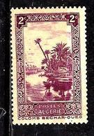 ALGÉRIE 102° 2f Lilas Oued à Colomb-Béchar (10% De La Cote + 0,15) - Algérie (1924-1962)
