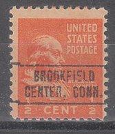 USA Precancel Vorausentwertung Preo, Locals Connecticut, Brookfield Center 749 - Vereinigte Staaten