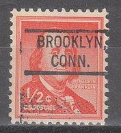USA Precancel Vorausentwertung Preo, Locals Connecticut, Brooklyn 804 - Vereinigte Staaten