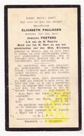 DP Elisabeth Paulissen ° Kinrooi 1861 † 1933 X Joannes Peeters - Images Religieuses