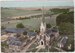 CPSM   En Avion Au Dessus De.....SISSY 02  Vue Panoramique.L'église - France