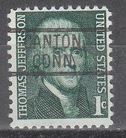 USA Precancel Vorausentwertung Preo, Locals Connecticut, Canton 802 - Vereinigte Staaten